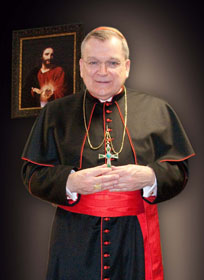 Most Reverend Raymond L. Burke with Sacred Heart